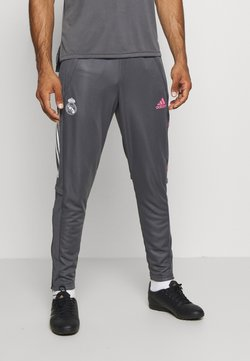 adidas Performance - REAL MADRID AEROREADY SPORTS FOOTBALL PANTS - Klubtrøjer - grey