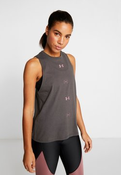 Under Armour - GRAPHIC MUSCLE  - Camiseta de deporte - jet gray /hushed pink