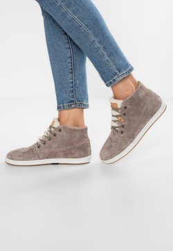 HUB - SUBWAY - Sneakers hoog - dark taupe/bone