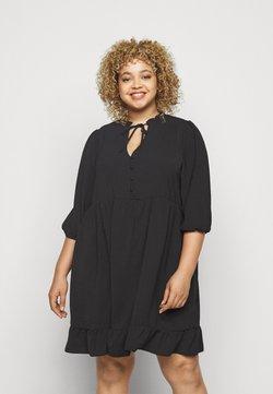 New Look Curves - HERRINGBONE SMOCK DRESS - Freizeitkleid - black