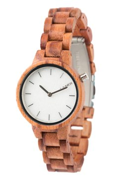 LAIMER - LAIMER QUARZ HOLZUHR - ANALOGE ARMBANDUHR MARMO ROSA - Uhr - brown