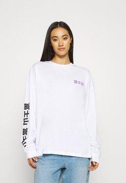 BDG Urban Outfitters - MOUNT FUJI SKATE TEE - Langarmshirt - white