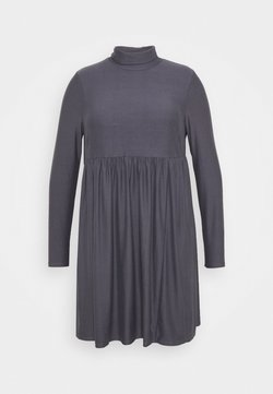 Simply Be - SOFT TOUCH HIGHNECK SMOCK DRESS - Jerseykleid - dark grey