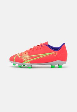 Nike Performance - MERCURIAL JR VAPOR 14 CLUB FG/MG UNISEX - Chaussures de foot à crampons - bright crimson/metallic silver