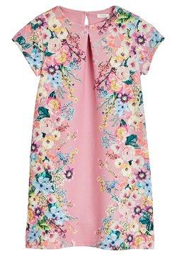 Next - BERRY FLORAL PONTE  - Korte jurk - mottled pink