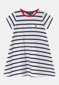 Polo Ralph Lauren - SWING  - Jerseykleid - white/french navy
