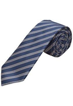 s.Oliver BLACK LABEL - Krawatte - dark blue stripes