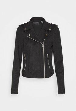 Vero Moda - Imitert skinnjakke - black