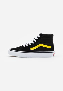 Vans - SK8 UNISEX - Korkeavartiset tennarit - black/blazing yellow/true white
