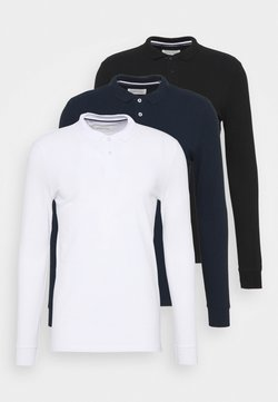 Pier One - 3 PACK - Poloshirt - dark blue/white/black