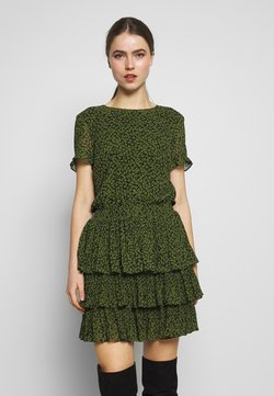 MICHAEL Michael Kors - MINI TIER DRESS - Freizeitkleid - black/evergreen
