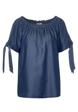 Street One - CARMEN-BLUSE IM DENIM LOOK - Bluse - blau