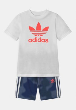 adidas Originals - TREFOIL CAMO SET UNISEX - Trainingsbroek - white/crew blue