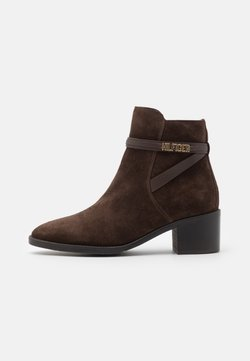 Tommy Hilfiger - BLOCK BRANDING MID BOOT - Stiefelette - cocoa