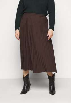 Selected Femme Curve - SLFLEXIS MIDI SKIRT - A-Linien-Rock - coffee bean