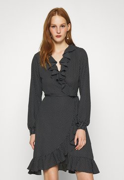 JUST FEMALE - NIRO WRAP DRESS - Freizeitkleid - black