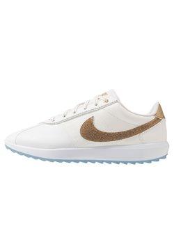 Nike Golf - CORTEZ G NRG - Golfschuh - summit white/metallic gold/white