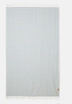Espadrij l´originale - BEACHPLAID STRIPES - Accessoire de plage - ecru/bleu clair