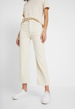 Levi's® - RIBCAGE STRAIGHT ANKLE - Pantalon classique - ecru wide wale