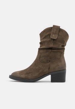 Tamaris - BOOTS - Cowboy-/Bikerlaarsjes - olive