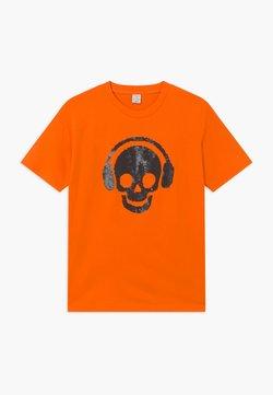 Lindex - TEENS SKATE FLIP SEQUIINS - T-shirt print - orange