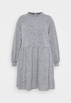 New Look Curves - FUZZY RAGLAN - Strickkleid - dark grey