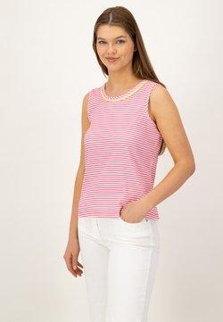 JUST WHITE - Top - pink streifen