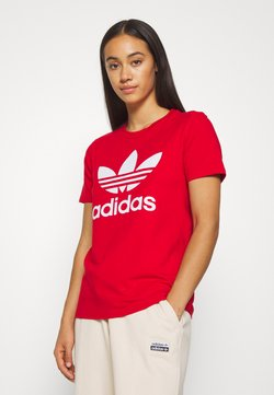 adidas Originals - TREFOIL TEE - T-shirt print - light red