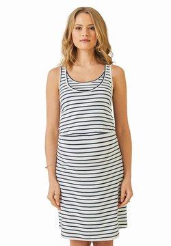 Vertbaudet - Jerseykleid - weiß/blau gestreift
