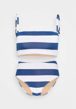 Cotton On Body - MIDI BANDEAU HIGHWAISTED FULL SET - Bikini - marina blue