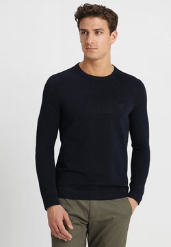 Marc O'Polo - STRUCTURED CREW NECK - Strickpullover - total eclipse