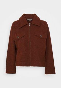 Madewell - JORDAN ZIP UP JACKET - Summer jacket - heather brick