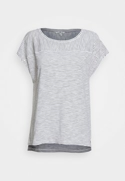 TOM TAILOR - STRIPED - T-Shirt print - offwhite