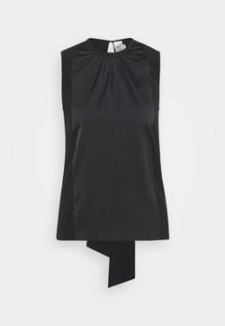Victoria Victoria Beckham - TIE BACK - Bluse - black