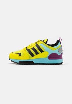 adidas Originals - ZX 700 HD UNISEX - Sneaker low - acid yellow/core black/haze sky