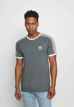 adidas Originals - STRIPES TEE - T-Shirt print - blue oxide