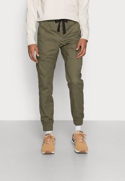 Another Influence - TWILL CARGO TROUSER WITH CUFFED HEM - Cargo trousers - khaki