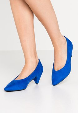 Evans - WIDE FIT CONE HEEL - Pumps - blue