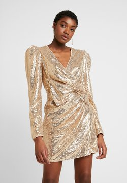 Nly by Nelly - PUFFY POWER SEQUIN DRESS - Cocktailkleid/festliches Kleid - gold