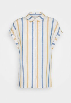 TOM TAILOR DENIM - STRUCTURE STRIPE - Camisa - creme yellow/blue
