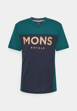 Mons Royale - REDWOOD ENDURO - T-Shirt print - deep teal/navy
