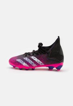 adidas Performance - PREDATOR FREAK .3 MG UNISEX - Botas de fútbol con tacos - core black/footwear white/shock pink