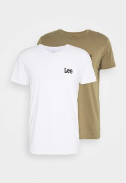 Lee - TWIN 2 PACK - T-shirt con stampa - white/green