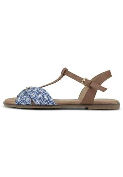 TOM TAILOR - SHOES SANDALE MIT STOFFMUSTER - Riemensandalette - navy