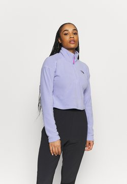 The North Face - GLACIER CROPPED ZIP - Fleecepullover - sweet lavender