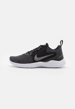 Nike Performance - FLEX EXPERIENCE - Laufschuh Neutral - black/white/dark smoke grey/iron grey