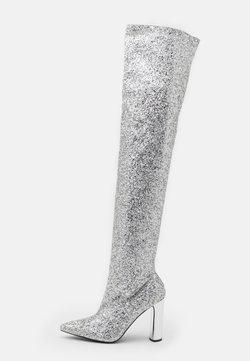 BEBO - LIMA - Botas de tacón - silver glitter