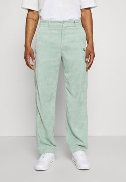 Vintage Supply - RELAXED TROUSER WITH YIN YANG EMBROIDERY UNISEX - Pantaloni - green