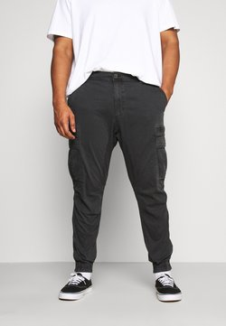 Cotton On - URBAN JOGGER PLUS - Cargo trousers - duster black