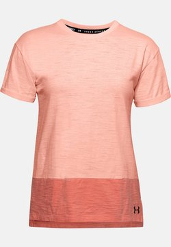 Under Armour - CHARGED  - T-Shirt print - peach frost